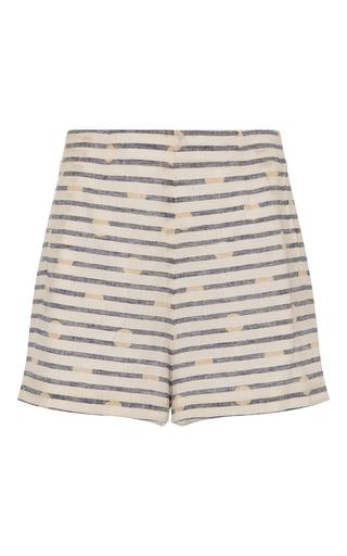 Medium whit white jigsaw striped shorts