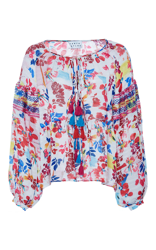 Medium tanya taylor floral textured floral clemence top
