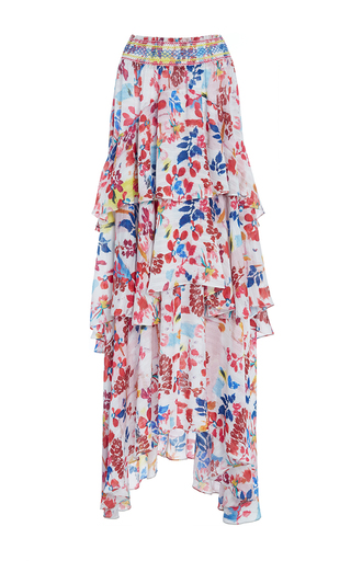 Medium tanya taylor floral textured floral mariana skirt