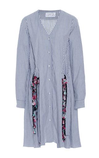 Medium tanya taylor stripe menswear stripe mirabelle dress