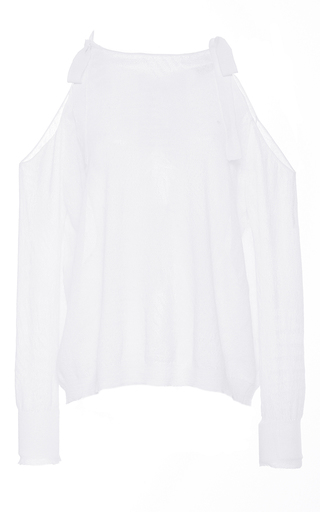 Medium tanya taylor white palm leaf sasha sweater