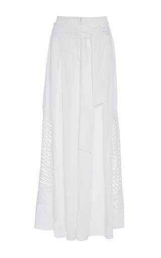 Medium tanya taylor white palm embroidered lulu pant