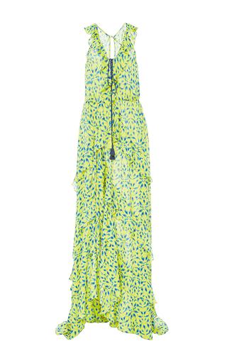 Medium tanya taylor print textured leaf ikat oksana dress