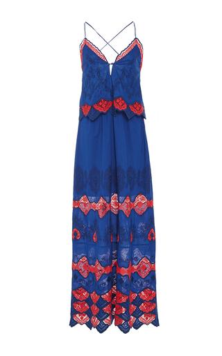 Medium tanya taylor navy embroidered cotton phyllis dress
