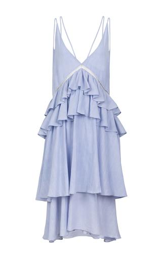Medium lala berlin blue casper ruffle midi dress