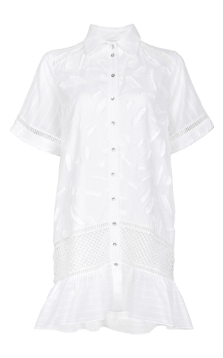 Medium lala berlin white minki shirt dress