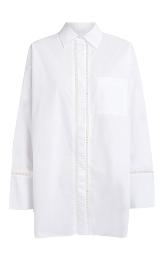 Medium lala berlin white iman eyelet shirt
