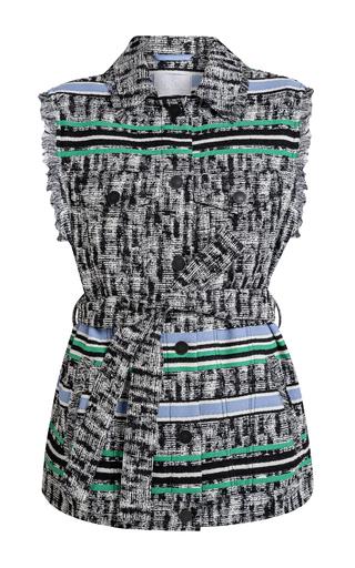 Medium lala berlin multi jina fringes stripe vest