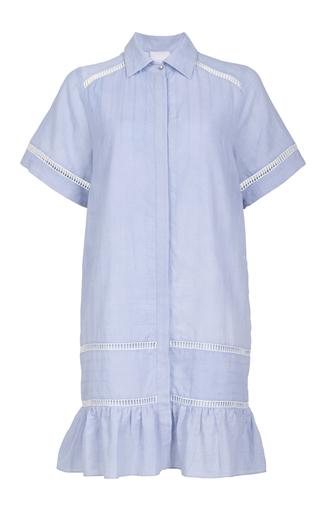 Medium lala berlin blue minki stripes shirt dress