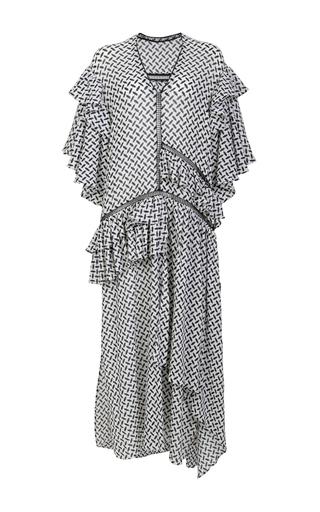 Medium lala berlin white monika ruffle dress