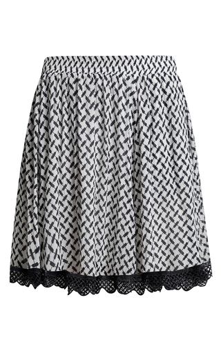 Medium lala berlin white nika mini printed skirt