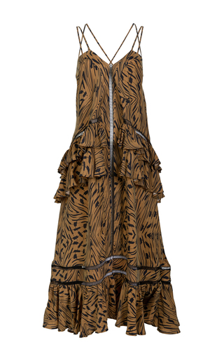 Medium lala berlin brown tanya printed maxi dress