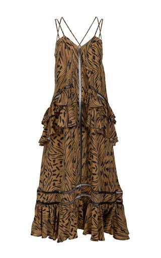 Medium lala berlin brown tanya printed maxi dress