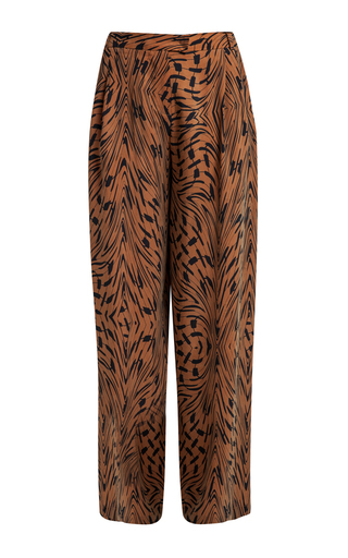 Medium lala berlin brown shea kufiya show printed pants
