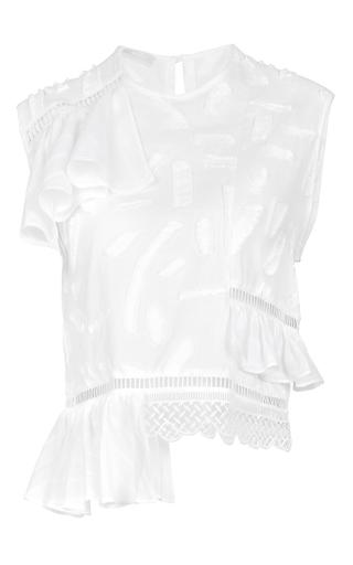 Medium lala berlin white leesa ruffle top