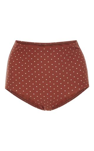 Medium matteau swim red polka dot high rise bikini bottoms