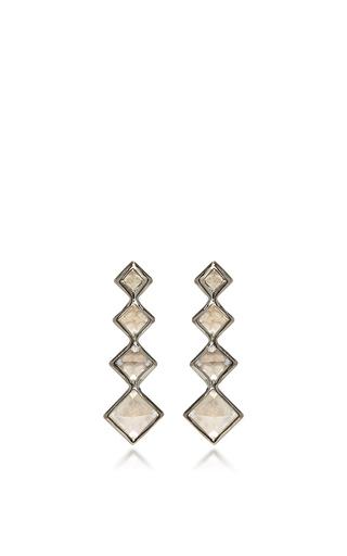 Medium lynn ban jewelry white 4 point gem ear climbers in white topaz