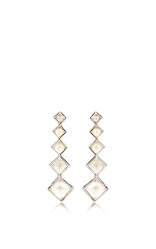 Medium lynn ban jewelry white 5 point gem ear climbers in white topaz 2