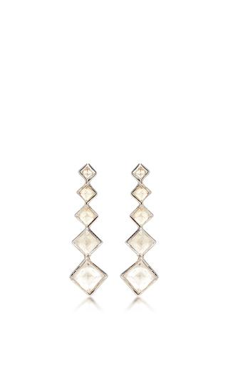 Medium lynn ban jewelry white 5 point gem ear climbers in white topaz 2