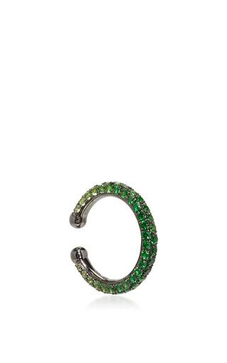Medium lynn ban jewelry green ombre pave orbital hoop in tsavorite