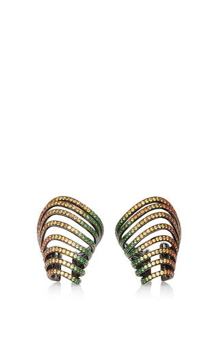 Medium lynn ban jewelry multi ombre rainbow pave sonic ear cuffs 2