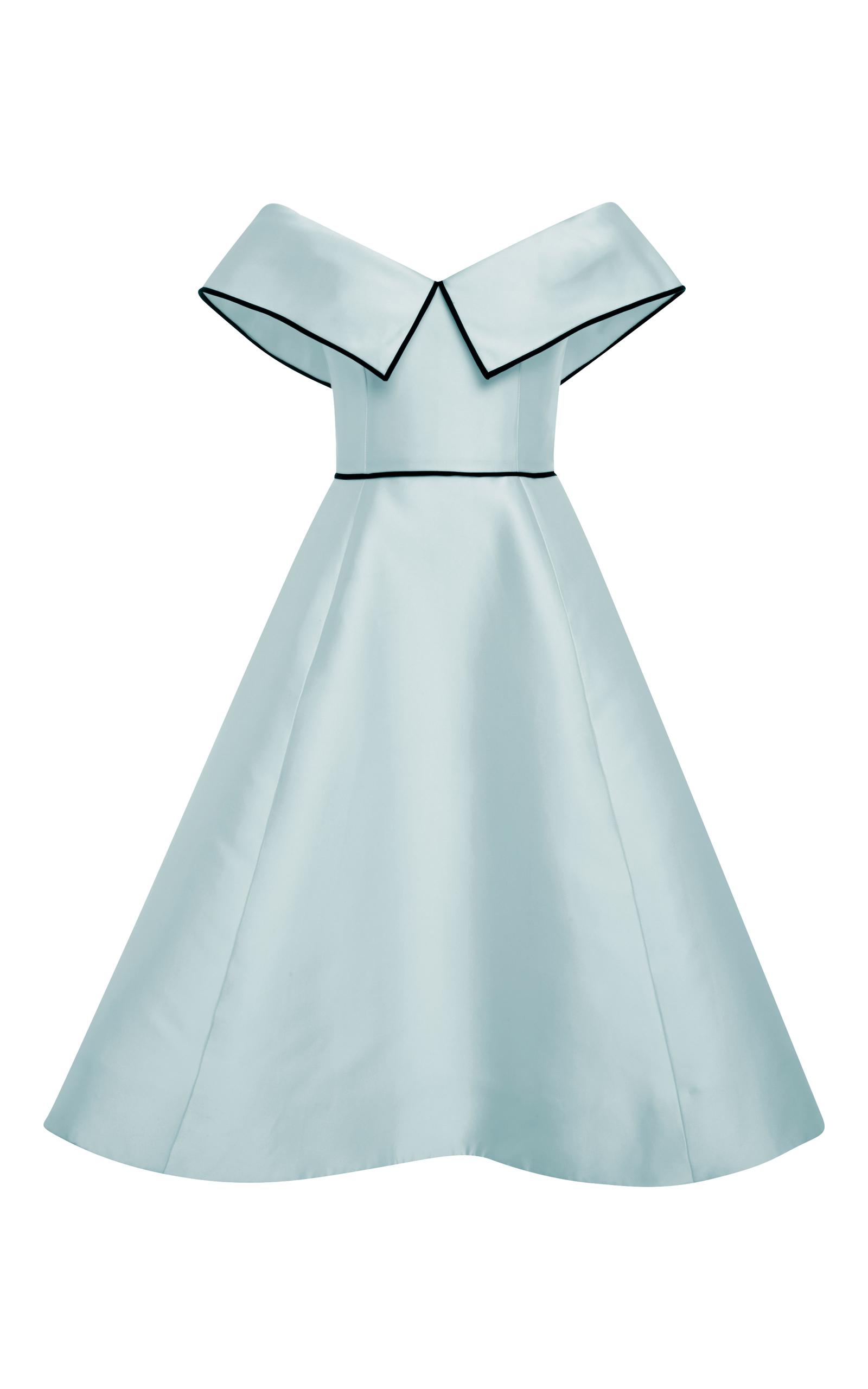 Light Blue f the Shoulder Cocktail Dress by Elizabeth Kennedy
