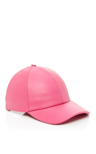 Medium vianel ny pink leather baseball cap 2