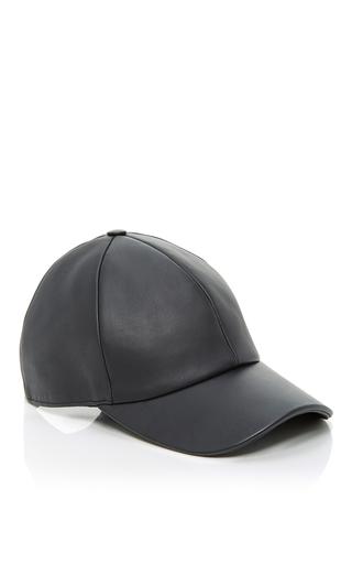 Medium vianel ny black leather baseball cap 4