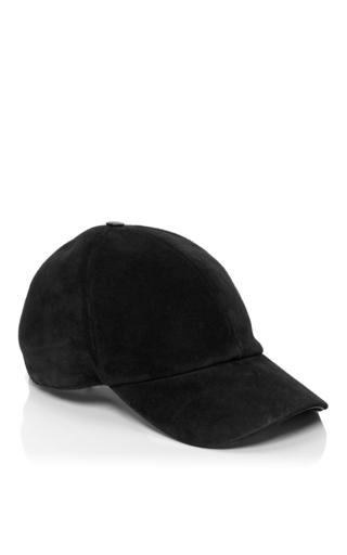 Medium vianel ny black suede baseball cap