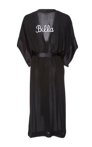 Medium fleur du mal black short sleeve robe