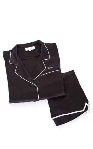 Medium fleur du mal black pajama short
