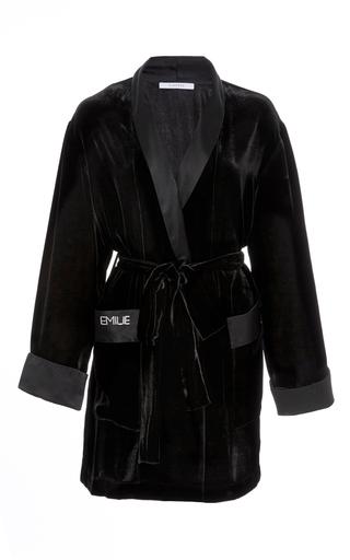 Medium sleeper black siberia black velvet robe
