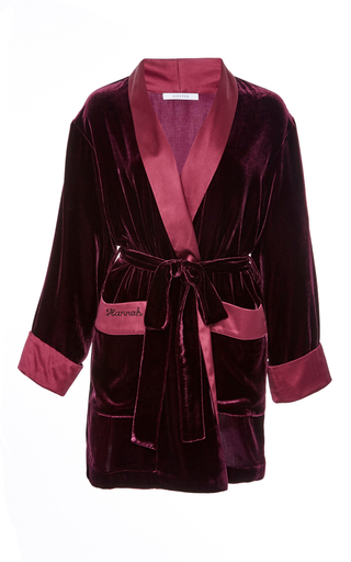 Medium sleeper burgundy merlot red velvet robe