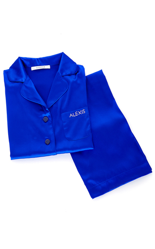 Medium sleeper blue yves klein blue pajama set