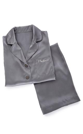Medium sleeper dark grey steel grey pajama set