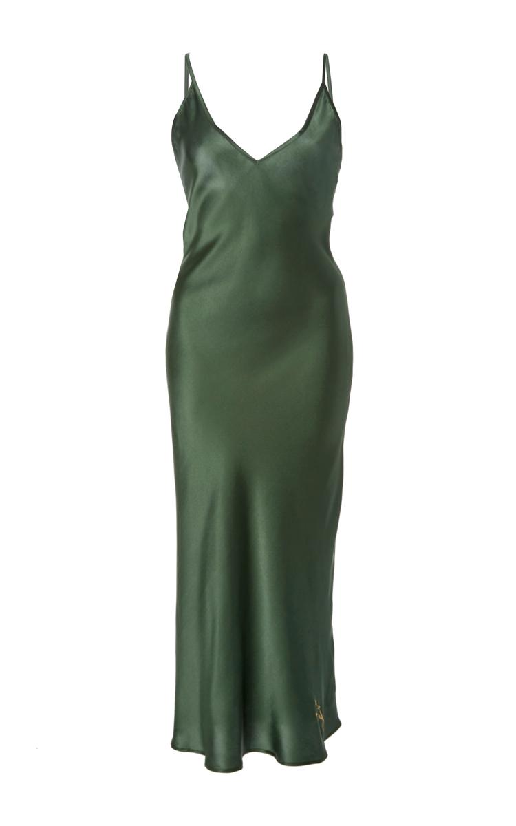 527a7182c98e Sofia Silk Slip Dress with Zodiac Sign by Sleeper | Moda Operandi