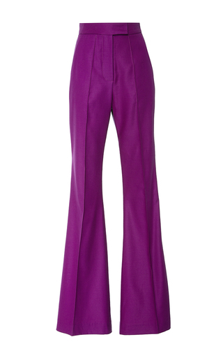 Medium racil purple ziggy flared purple rain trousers
