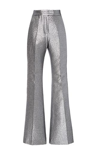 Medium racil metallic ziggy flared space oddity trousers