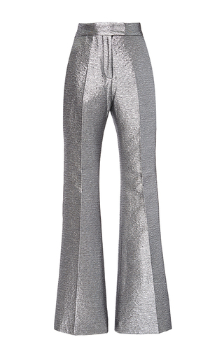 Medium racil metallic ziggy flared space oddity trousers