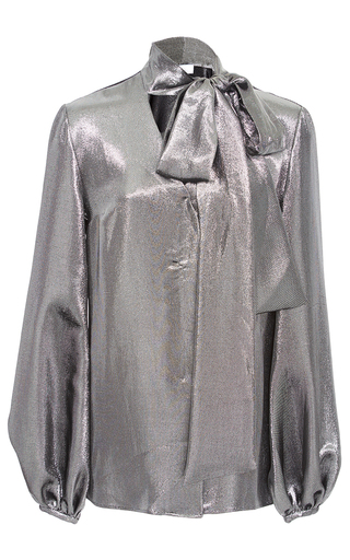 Medium racil metallic delirious space oddity lame blouse