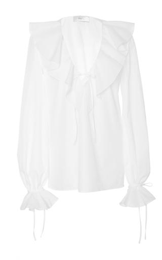 Medium racil white on tour ruffle blouse