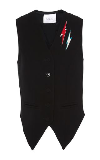 Medium racil black rebel embroidered waistcoat 2