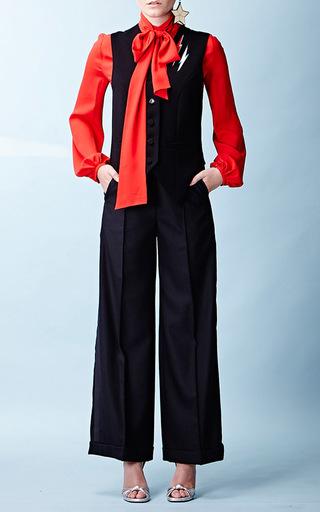 Medium racil red delirious long sleeve blouse 2
