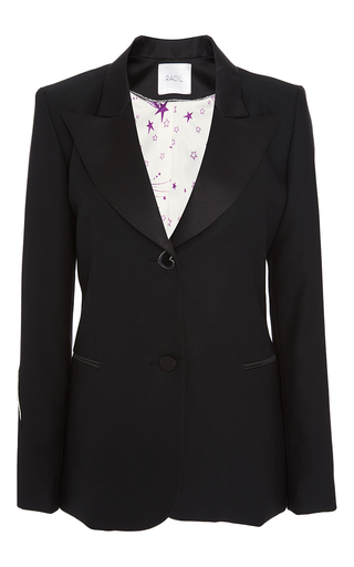 Medium racil black bowie embroidered rockstar jacket