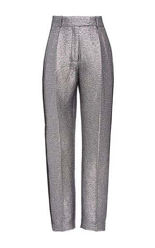 Medium racil metallic aries space oddity low waist slim trousers