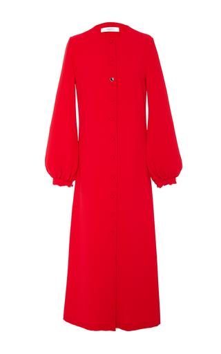Medium racil red iman long sleeve crepe dress