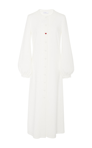 Medium racil white iman long sleeve crepe dress 3