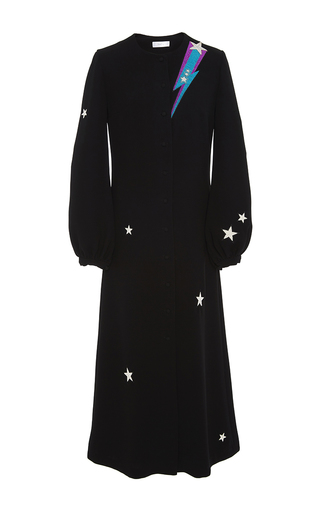 Medium racil black iman rockstar embroidered dress