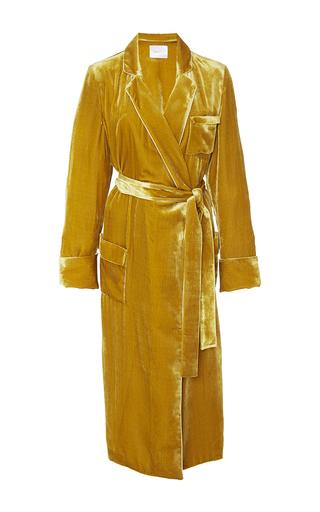 Medium racil gold backstage velvet dressing gown
