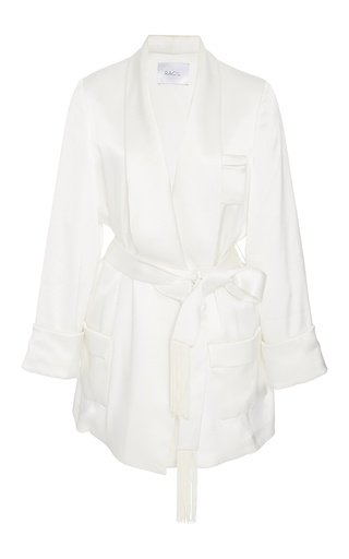 Medium racil white angie satin jacket